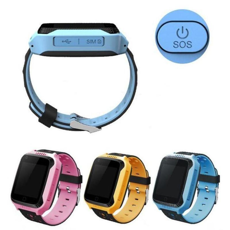 Niños GPS Reloj Podómetro Inteligente Relojes Teléfono Posicionamiento SOS de Emergencia Pulsera Pulsera Monitor Buscador Dispositivo Para Niños D