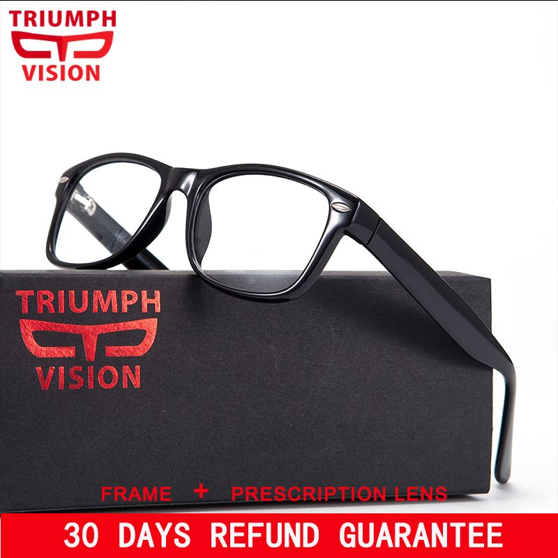 TRIUMPH VISION Brand Designer Frame Rivet Prescription Glasses Men Photochromic Eyeglasses Anti Blue Ray Computer Glasses Myopia