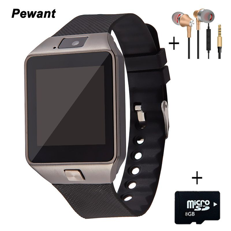 Factory Wholesale Wearable Devices DZ09 Smart Watch With Camera SIM Card Andriod <font><b>Smartwatch</b></font> For Men Women Gift Smart Electronics