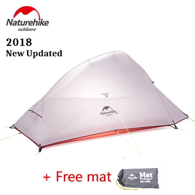 Naturehike 2018 Newest Updated CloudUp 2 Person Ultralight Outdoor Hiking Tent 20D Fabric Waterproof Camping Tent With Free Mat
