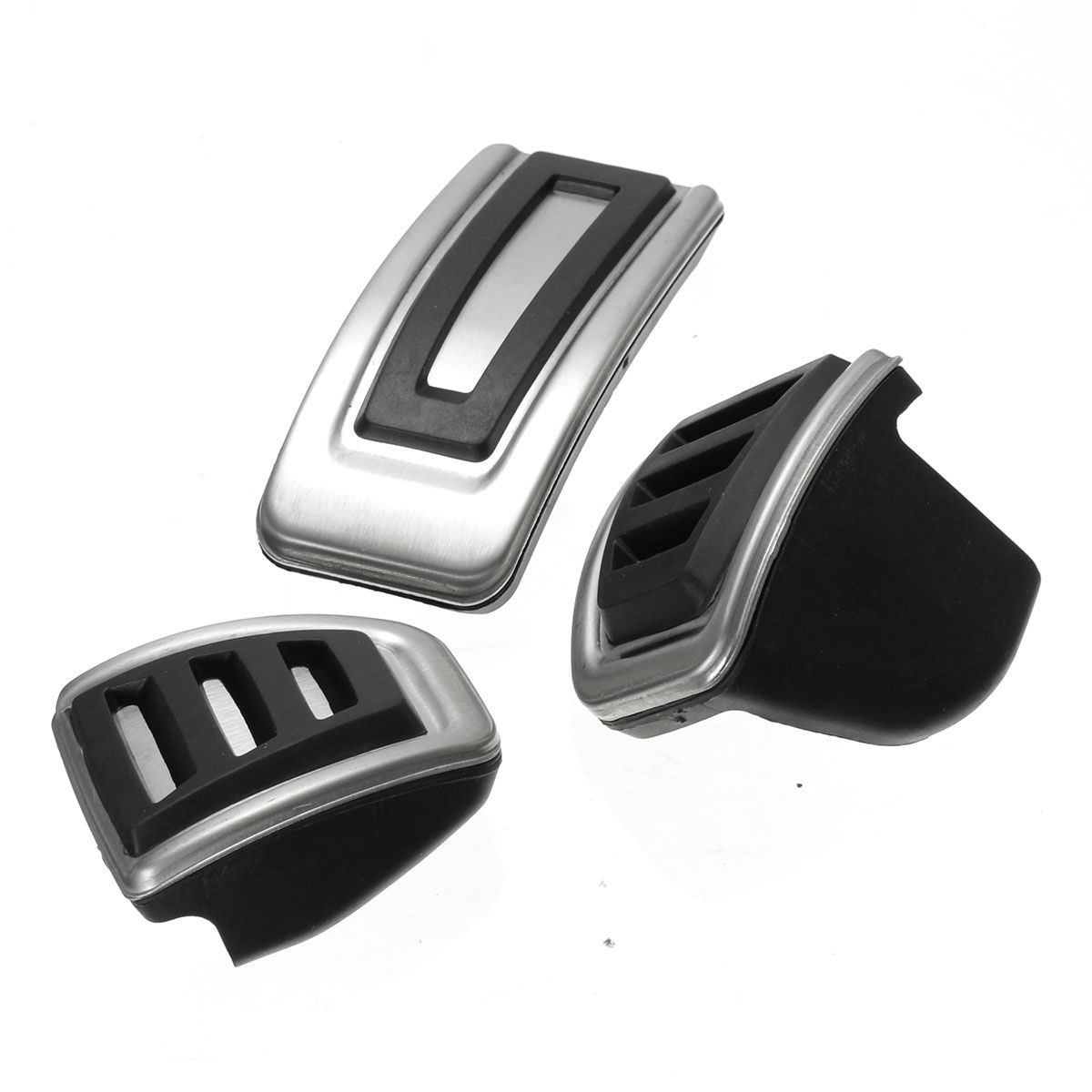 3Pcs/Set Car Clutch Brake Accelerator Pedal Footrest Pad Covers For Skoda Seat Fabia for VW Polo 9N 6R Bora Golf MK4 IV