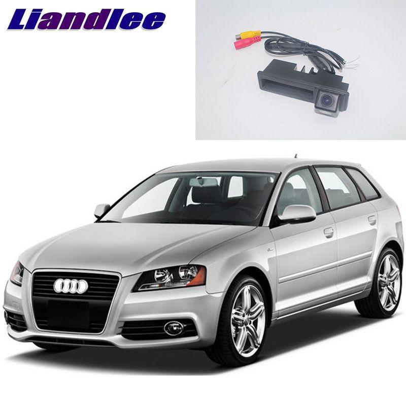 LiandLee Car Trunk Handle Rear View Reversing Parking Camera For Audi A3 Hatchback 8P 8V MQB 2003~2018