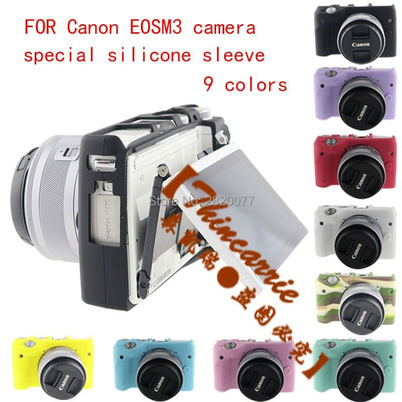 Soft Silicone Rubber Camera Protective Body Cover Case Skin For Canon EOS  M6   M6 camera silicone sleeve
