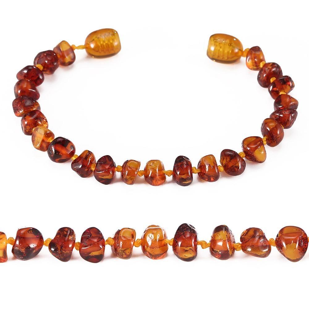Bracelet/cheville de dentition ambre-pas de facture, pas de prix, pas de logo-4 tailles-4 couleurs-expédition des états-unis, du royaume-uni et du CN