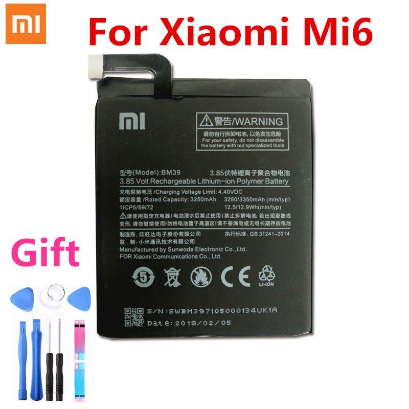 Batterie Für XiaoMi 6 BM39 Mi6/Xiao Mi 6 Bateria 3350 mah Telefon Hohe Reale Kapazität Li-polymer batterien Kostenloser Werkzeuge Paket
