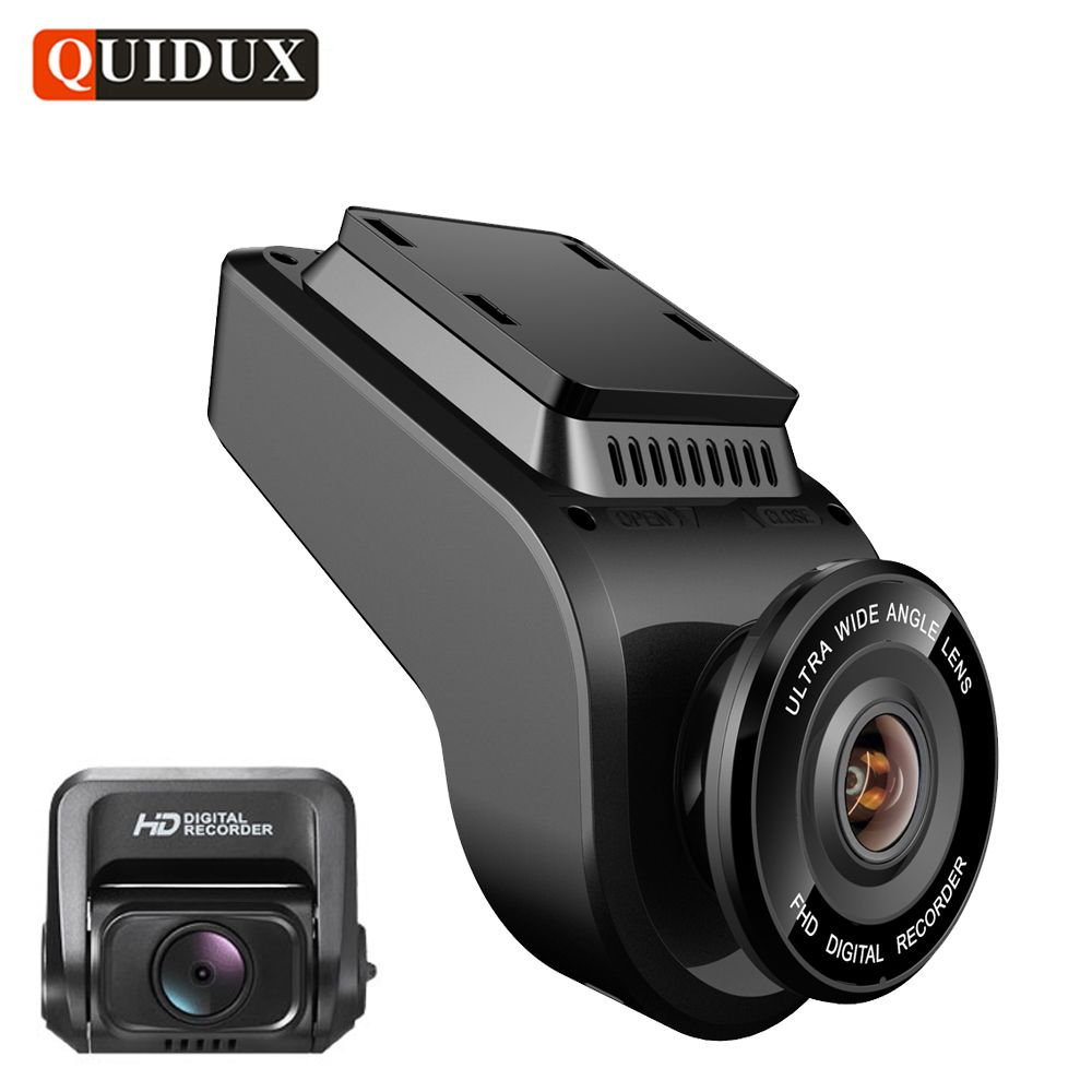 QUIDUX 4K 2160P Dash cam with 1080P Rear Camera GPS logger ADAS IMAX323 sensor car Video Recorder Novatek 96663 Night Vision DVR