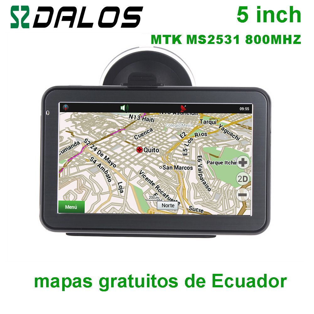Ecuador GPS 5 zoll Auto GPS-navigation mit kostenlosen karten von Ecuador