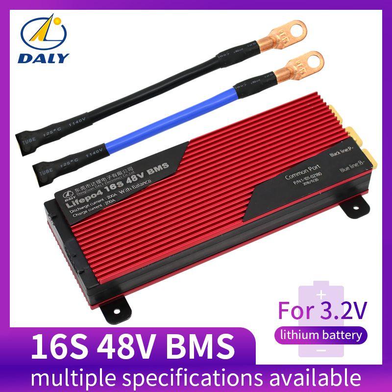 Daly 3,2 V LifePo4 16 S 48 V 80A 100A 120A 150A18650 BMS batterie schutz bord mit ausgewogene lithiumion lithium- batterie modul