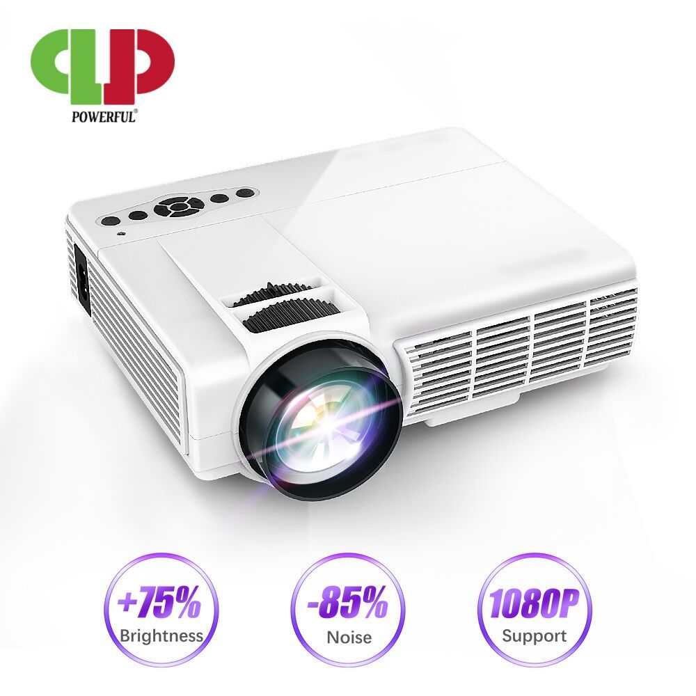 POWERFUL Q5 Projector 720P Full-HD Mini Projetor 800*600 Resolution Wireless Sync Display with Phone Wifi Proyector Home Theater