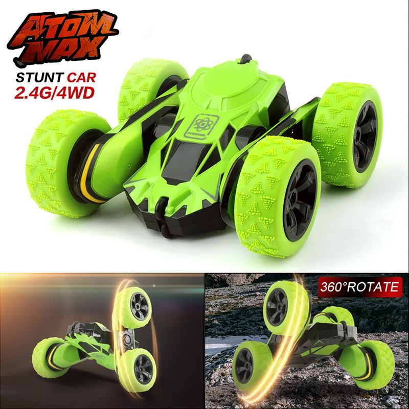 RC Car 2.4Ghz 4CH Stunt RC Car Remote Control Off Road Electric Race Double Sided 360 Degree RTR toys for children Xmas Gifts