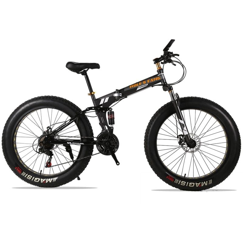 Folding Bicycle Mountain Bike 26 inches 21/24 Speed 26x4.0