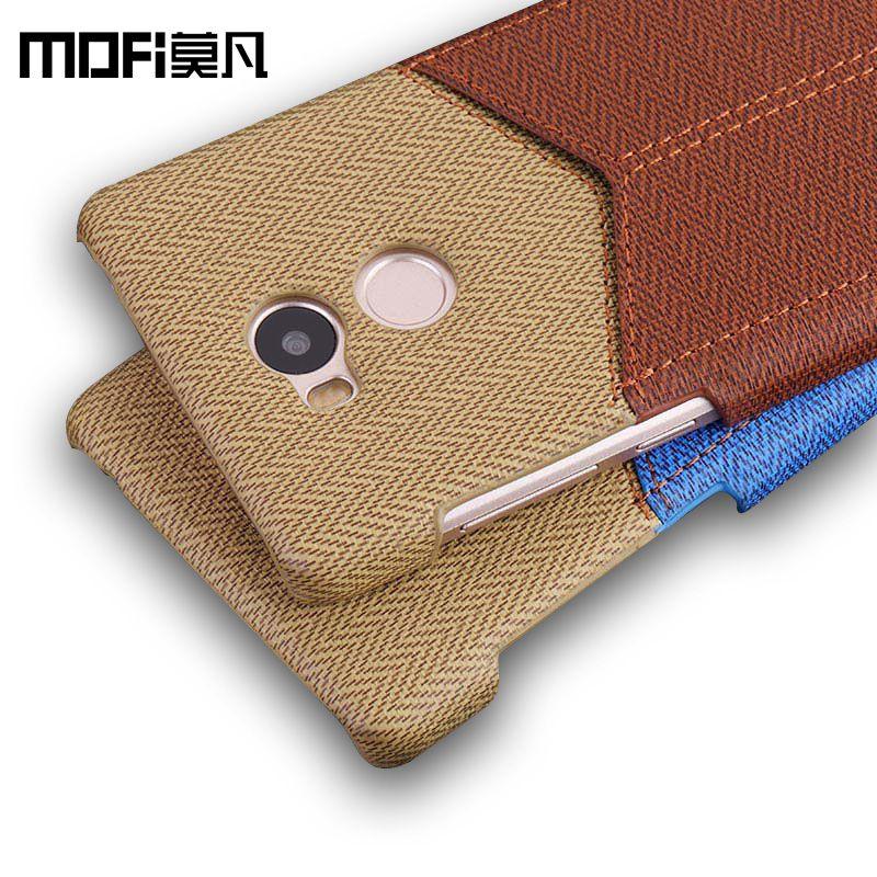 Xiaomi redmi 4 pro cas en cuir portefeuille sur le dos mofi d'origine fente pour carte funda ultra mince dur xiaomi redmi 4 pro cas couverture