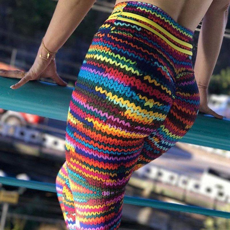 Hot 2018 Women 3D Squat Print High Waist elastic Fitness Leggings Sexy Breathable Women Workout Legging oodji Punk Rock Big