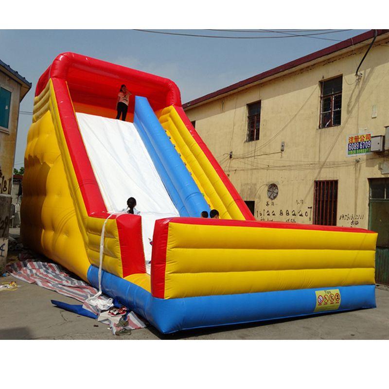 Aufblasbare trockenen rutsche kinder rutsche große türsteher trampolin rutsche freies gebläse china fabrik