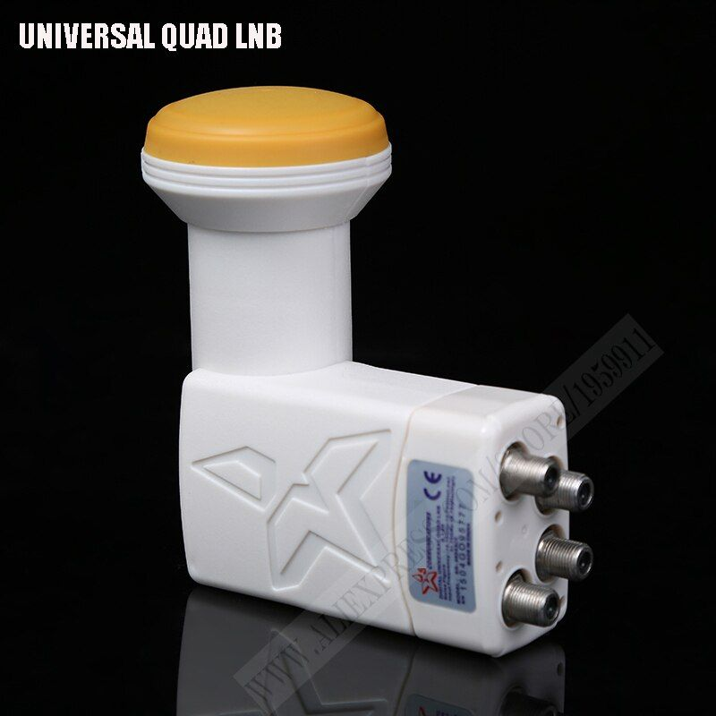 Full hd numérique universel lnb haute qualité à faible bruit universel bande ku quad lnb haut gain étanche lnbf satellite tv tuner