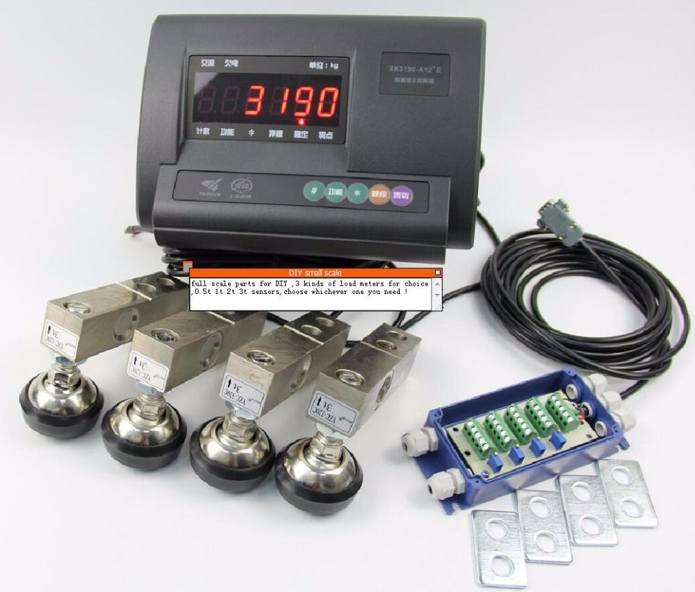 DIY small scale full set accessories load meter ( standard english version without battery )+ load sensor XK3190-A12+E