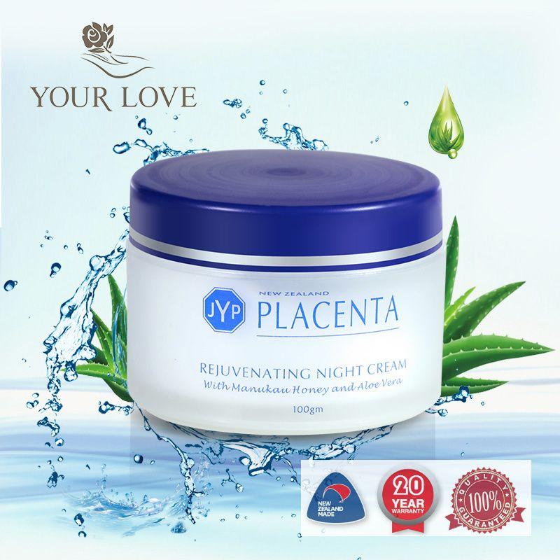Nouvelle-zélande JYP mouton Placenta crème de nuit rajeunissante visage hydratant réduire les rides Anti-âge crème de peau lisse crème de nuit