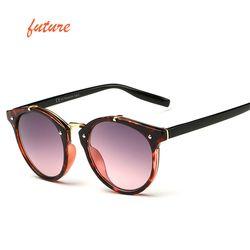 2018 Vintage Ronde Rivet lunettes de Soleil Femmes Marque Designer Lunettes UV400 Gradient Femelle Rétro Soleil Lunettes Élégant Oculos De Sol