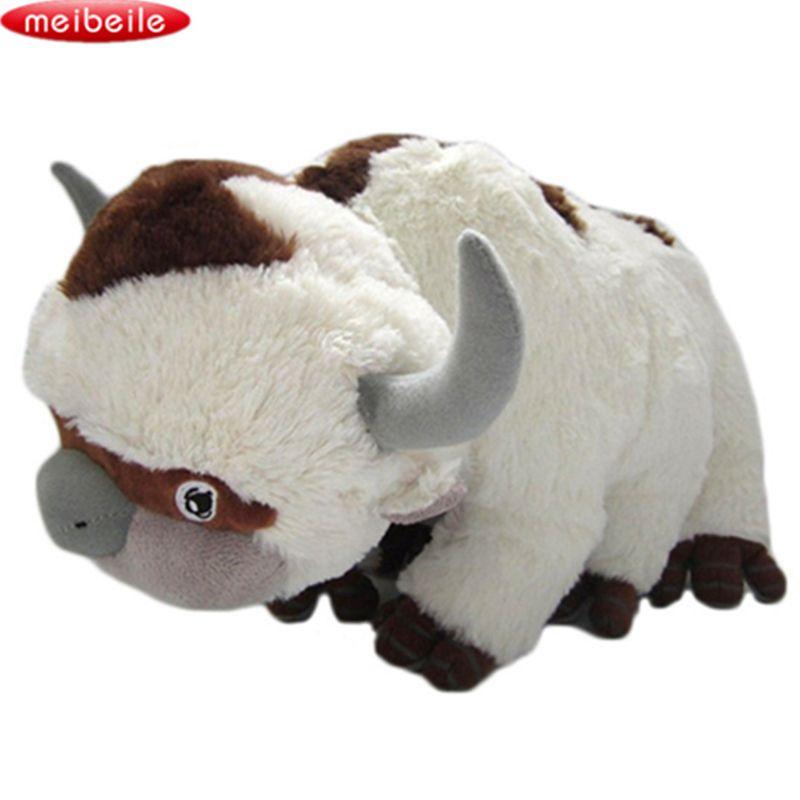 50 CM la dernière ressource Airbender Appa Avatar animaux en peluche poupée en peluche vache boeuf jouet cadeau Kawaii jouets en peluche licorne oreiller bétail