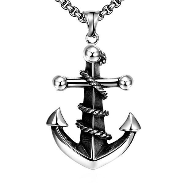 mens steel chain stainless steel diffuser pendants 925 sterling silver jewelry Arrow necklaces & pendants fashion choker N052