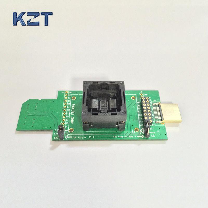 EMMC test buchse blitz chip eMMC153/eMMC169/BGA169 buchse BGA153 Android telefon flash daten backup-daten wiederherstellung SD--HDMI