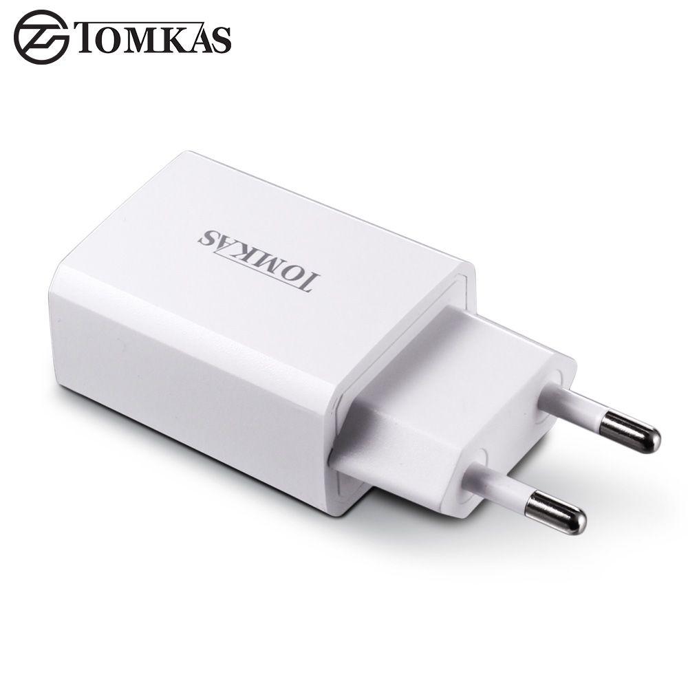 Tomkas usb chargeur adaptateur 5 v 2a rapide portable chargeur mur ue plug voyage téléphone chargeurs pour iphone ipad samsung mobile dispositif
