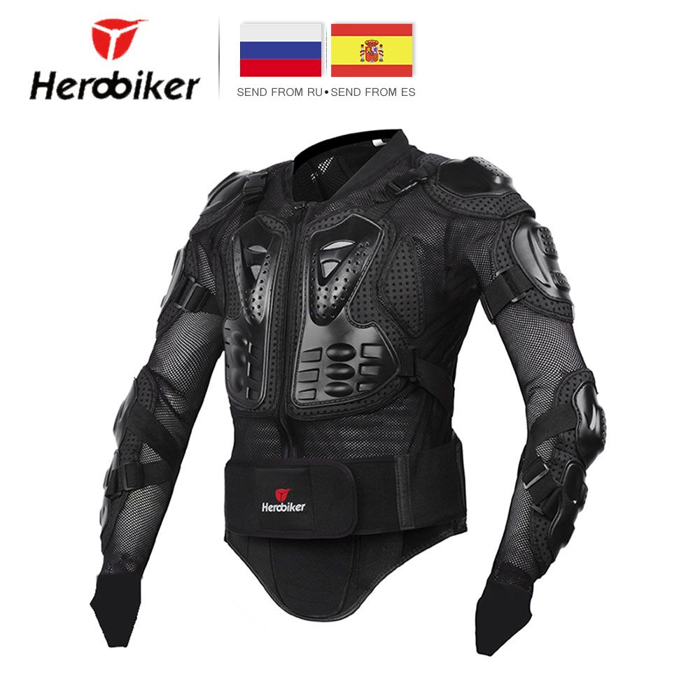 HEROBIKER Motorcycle Jacket Men Full Body Motorcycle Armor Motocross Racing Protective <font><b>Gear</b></font> Motorcycle Protection Size S-5XL