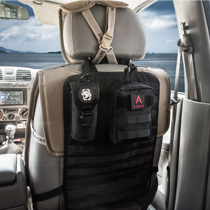 OneTigris Tactical Molle Car Seat <font><b>Organizer</b></font> 1000D nylon Seat Back <font><b>Organizer</b></font> Car Seat Cover Protector Fits For All Cars