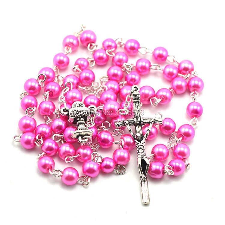 Католические Четки Ожерелье, стеклянные бусины четки, католические четки
