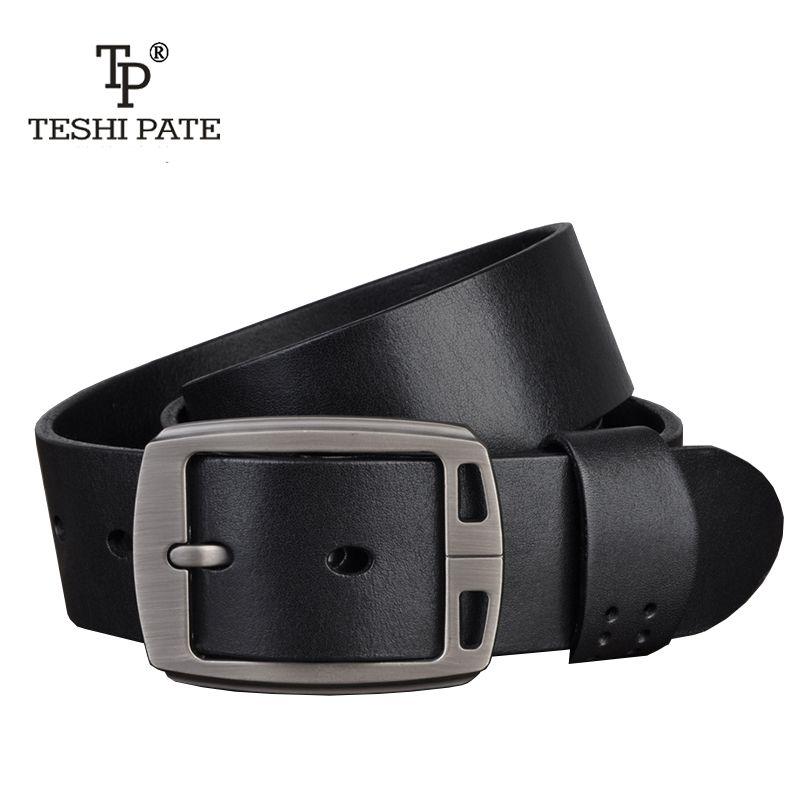 TESHI PATE TP hot designer belts men high Quality luxury 100% real full grain cowhide genuine leather fashion cowboys