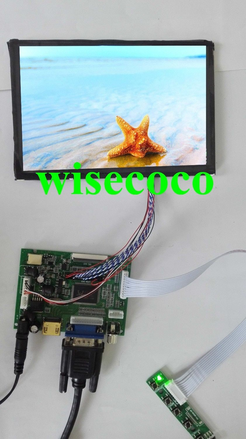 100%Tested NEW For Raspberry Pi 1280*800 N070ICG-LD1 IPS 7 inch LCD Screen Display Remote Driver Control Board 2AV HDMI VGA