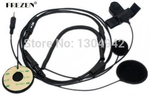 Full Face Helmet Motorcycle Motorbike Headset/Earpiece with Boom Mic & Finger PTT for Yaesu/Vertex Radio VX-120 VX-127 1-pin