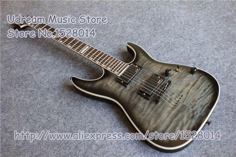 Custom Shop Grau Stepp Finish Suneye Deluxe Elektrische Gitarre Auf Lager & LP SG ES Gitarre Verfügbar