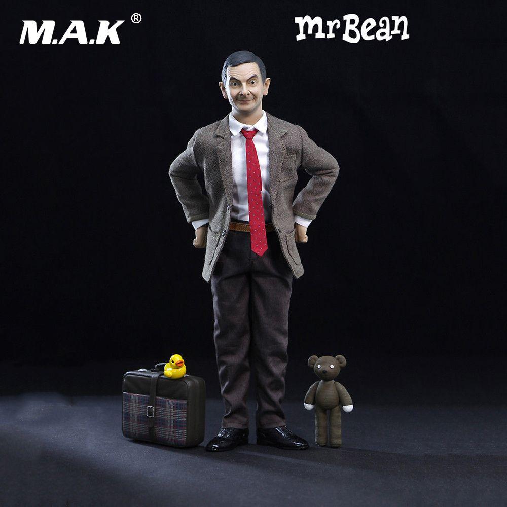 Hot sale 1/6th Mr. Bean Rowan Atkinson Single Body Ver. W 2pcs Head Action Figure Collectible Figure full set action figure