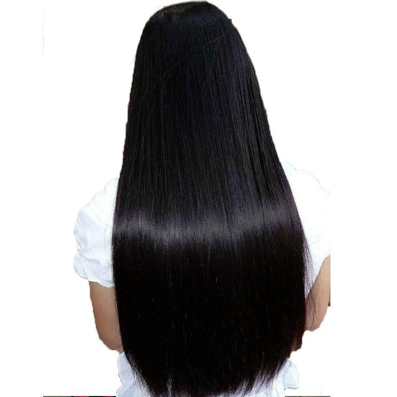 250% Densité Avant de Lacet Perruques de Cheveux Humains Brésiliens Vierge Perruque Droite Pré Pincées Avec Bébé Cheveux Naturels Dégarni Ensoleillé Reine