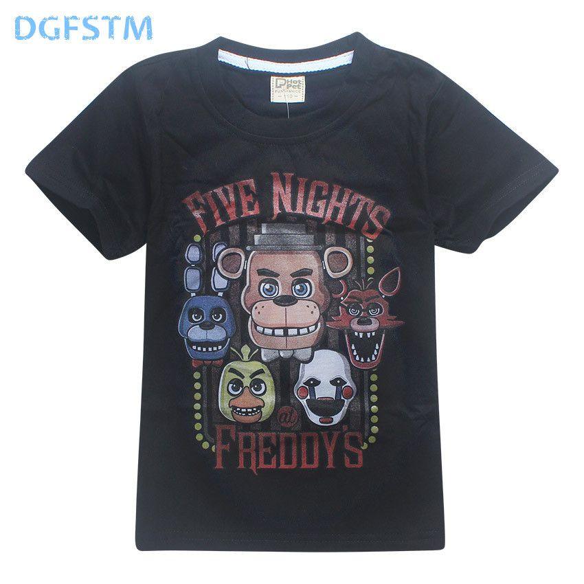5 Freddys Tops T 4-12Y 2017 sommer kinder Kleidung Fünf nächte Im Freddy T-Shirts Kinder T-shirts Jungen Kleidung roblox poli