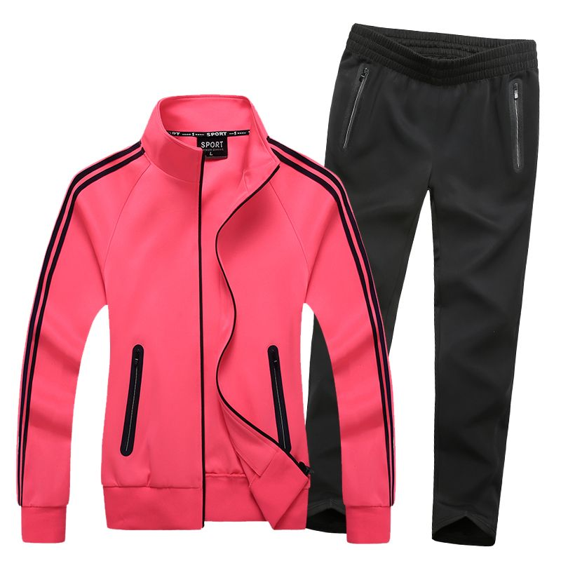 Women Fitness Set Sport Suit New Windproof Breathable Gym Sportswear Candy Colors Tracksuit Lady Training Jogging Running Sets