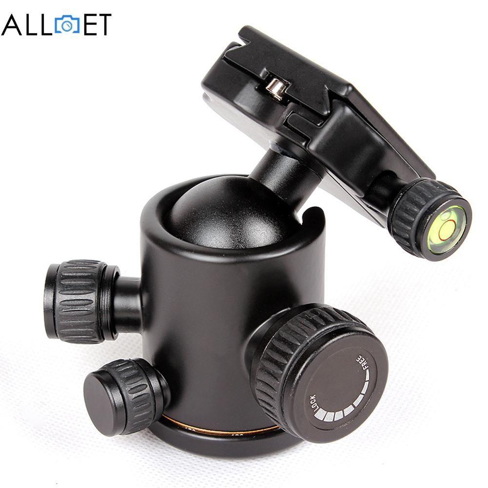 Professional Camera Tripod Head Ball Head Aluminum with Quick Release Plate 1/4
