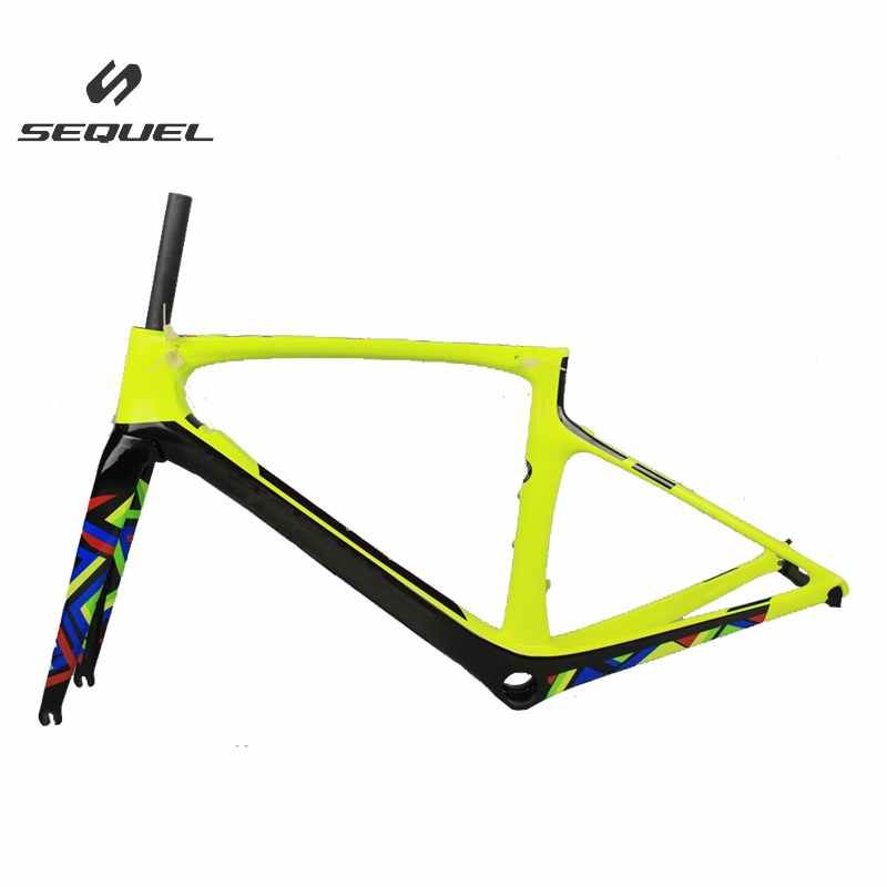 Carbon road bike frame T1000 2017 new model 47/49/52/54/56cm Foil LOGO carbon bicycle frame with DI2 hole