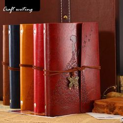 Los viajeros Notebook diario Bloc de notas vintage literatura pu A6 cuaderno de cuero papelería regalo del viajero planificadores