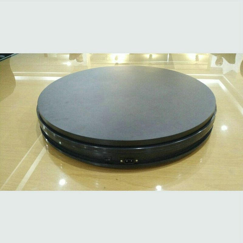 350X60MM Stable Heavy Load Electric Turntable Display Stand 360 Degree Sliver Color 50/90/180 Secs Per Circle Electric Rotary