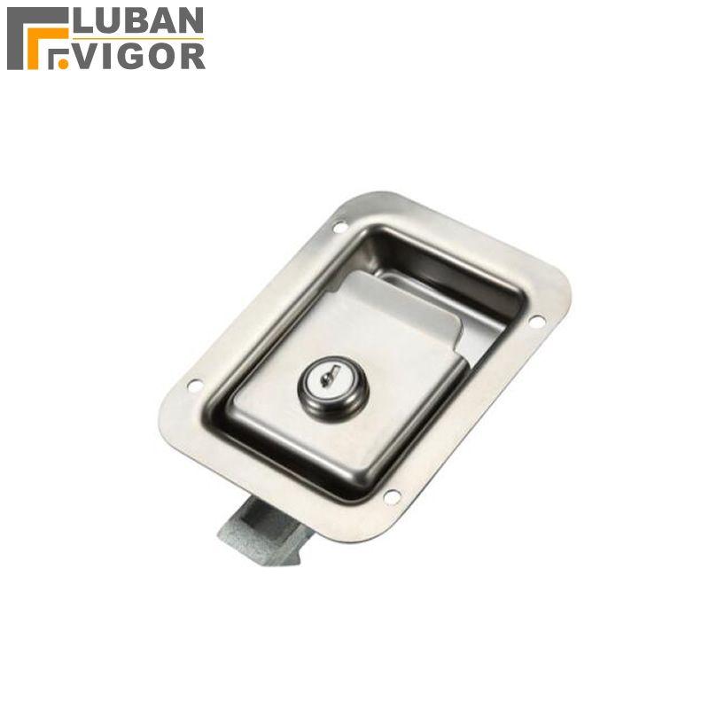 Factory outlets,stainless steel ,MS858 Pull type Panel Cabinet lock  Van car/RV Mechanical door locks,Industrial cabinet lock