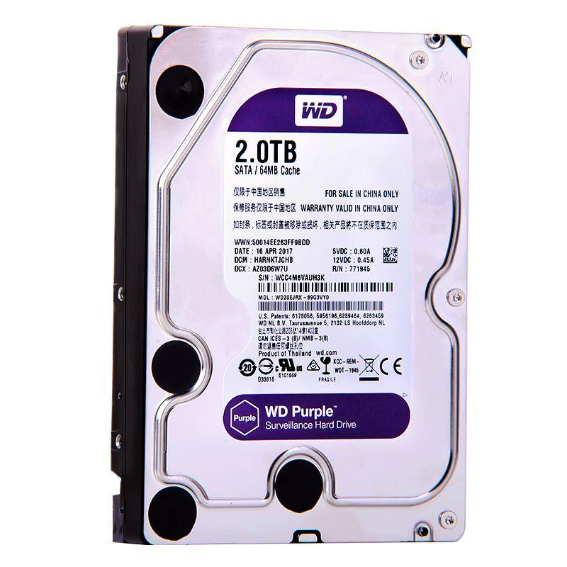 Western Digital WD Purple 500G 1TB 2TB 3TB 4TB SATA 6.0Gb/s 3.5