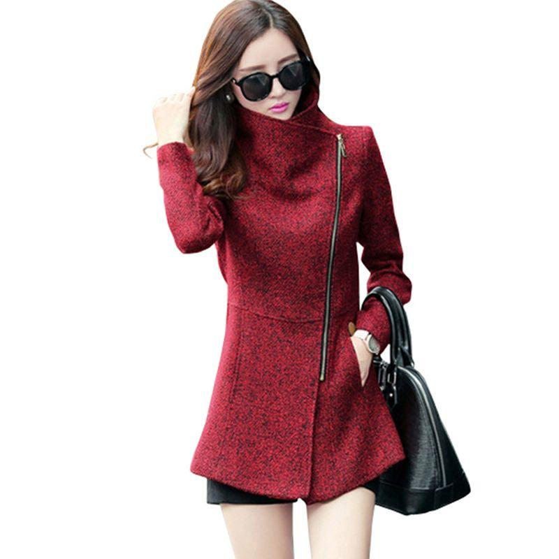 Nouvelle Europe 2019 automne hiver femmes tempérament laine vestes manteaux femmes vêtements de sport mode femmes Slim vestes manteaux