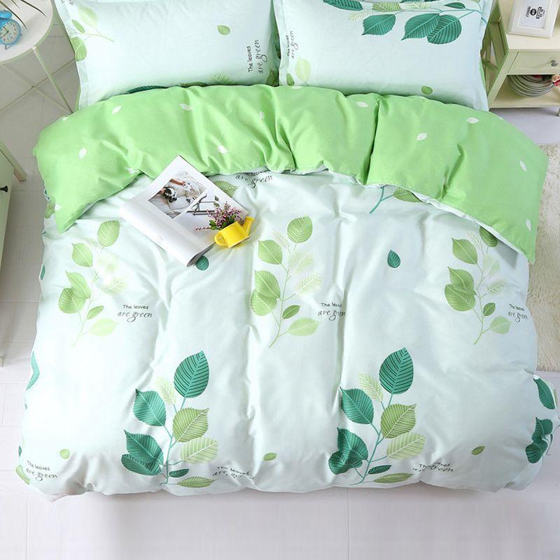 1 stücke Bettbezug 200*200 Bettwäsche Quilt Decke Tröster Abdeckung Druck Einzigen Doppel Königin König Angepasst 140*200 cm Green Leaf