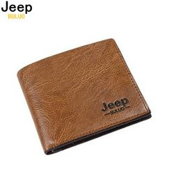 JEEP BULUO Man's Money Clips Pu Wallets For Men Fashion Card Case Wallet