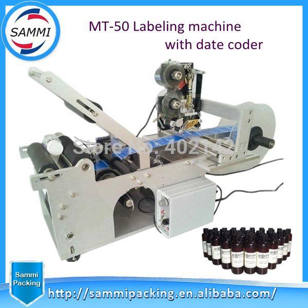 Heißer Verkauf Runde flasche kennzeichnung maschine mit code drucker, halbautomatische kennzeichnung maschine etikettierer