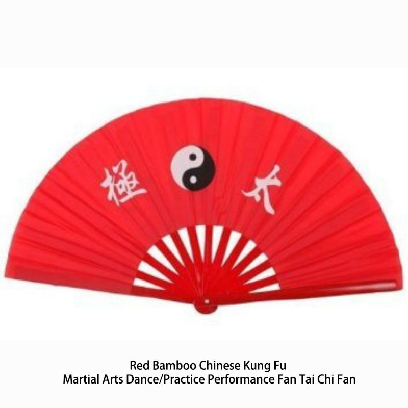 Red Bamboo Chinese Kung Fu Martial Arts Dance/Practice Performance Fan Tai Chi Fan