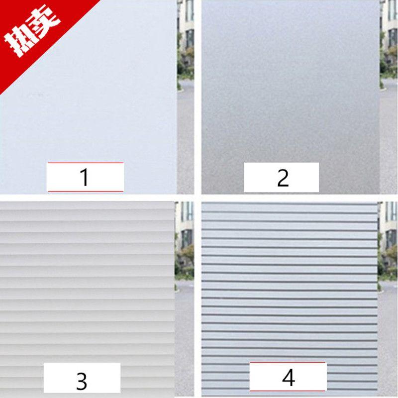 60X100 cm Fenêtre film Givré rayé électrostatique verre film feuille Vénitiens bureau blanc Stores fenêtre opaque autocollant