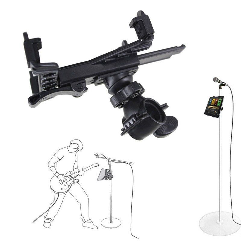 New Adjustment Music Mic Microphone Stand Tablet Holder Mount Holder For 7 to 11inch Tablet iPad Air 5 4 3 2 Samsung Tab GDeals